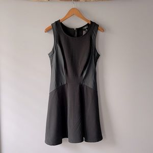 Mossimo NWT black dress w/ faux leather details M